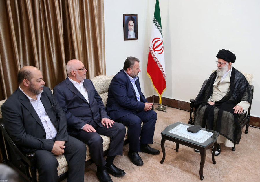 Iran's Supreme Leader Ayatollah Ali Khamenei meets with Hamas delegation headed by Arouri