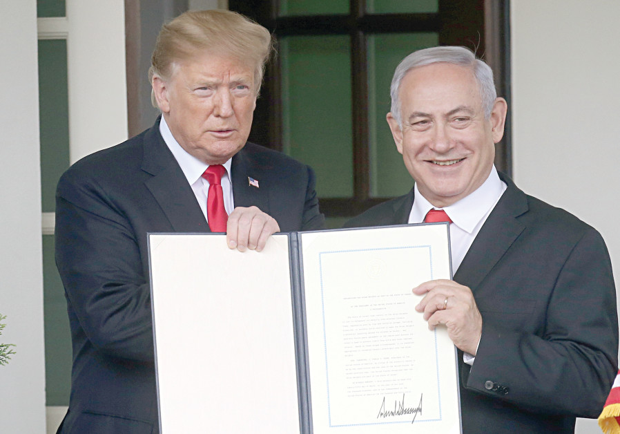 US President Donald Trump and Prime Minister Benjamin Netanyahu in Washington in March.