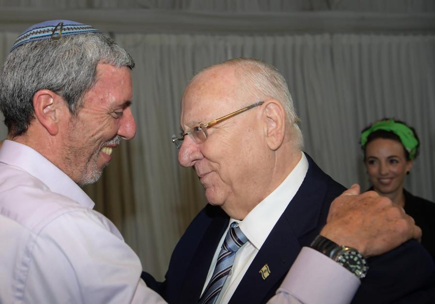 President Reuven Rivlin with Bayit Yehudi's Rafi Peretz