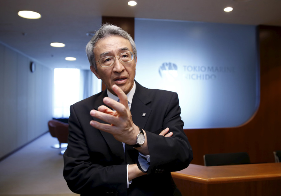 Tokio Marine Holdings Inc President and CEO Nagano speaks to Reuters' reporters at the company headq