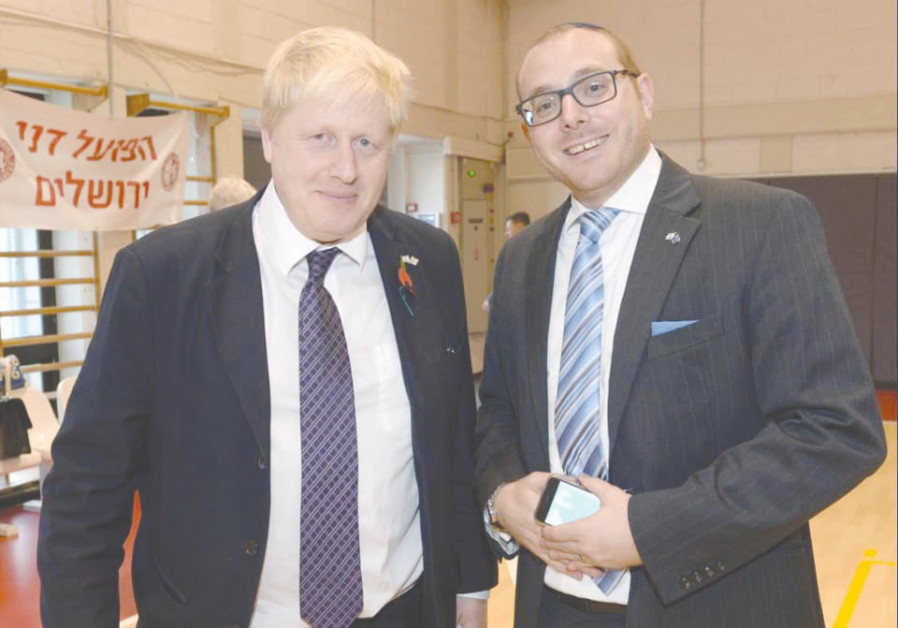 NEWLY ELECTED Prime Minister of England Boris Johnson with Jason Pearlman.