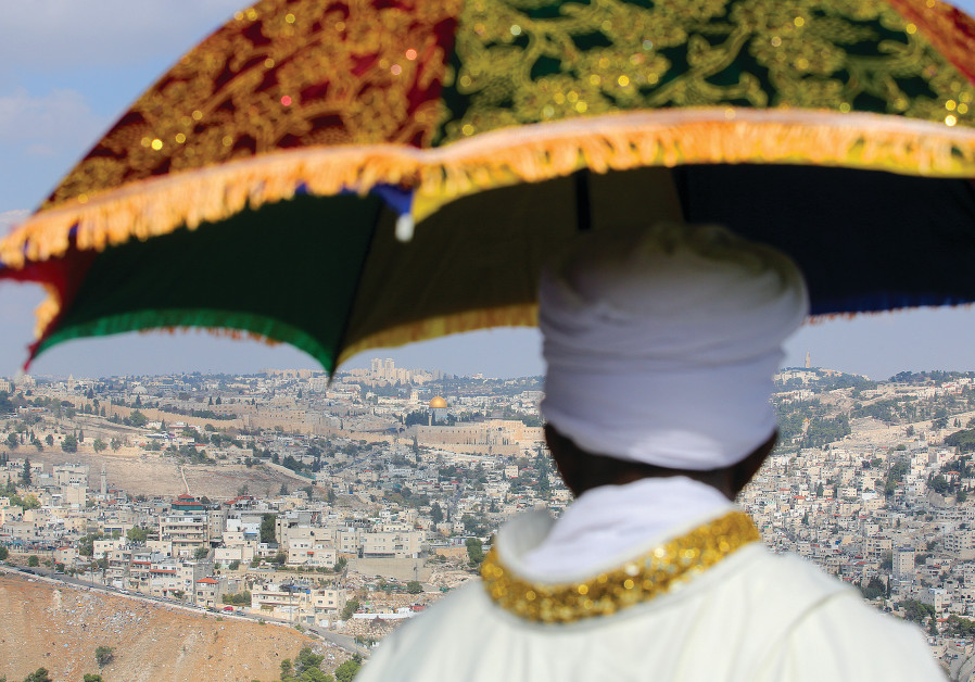 AN ETHIOPIAN-ISRAELI spiritual leader participates in the main Sigd holiday prayer gathering at the