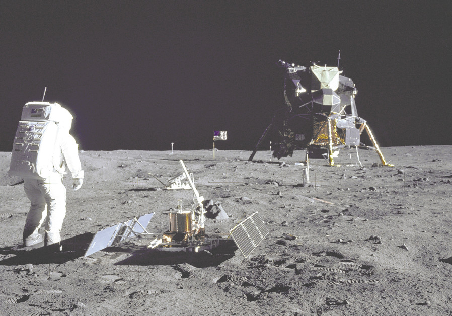 US ASTRONAUT Buzz Aldrin is pictured during the Apollo 11 extravehicular activity on the Moon, July