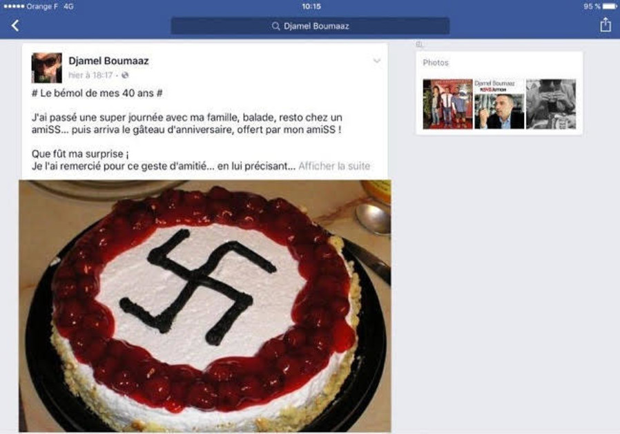 French official celebrates birthday with Nazi cake
