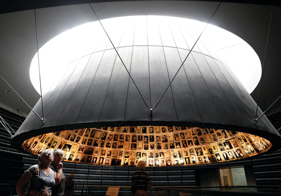 PEOPLE VISIT the Hall of Names at the Yad Vashem World Holocaust Remembrance Center in May.
