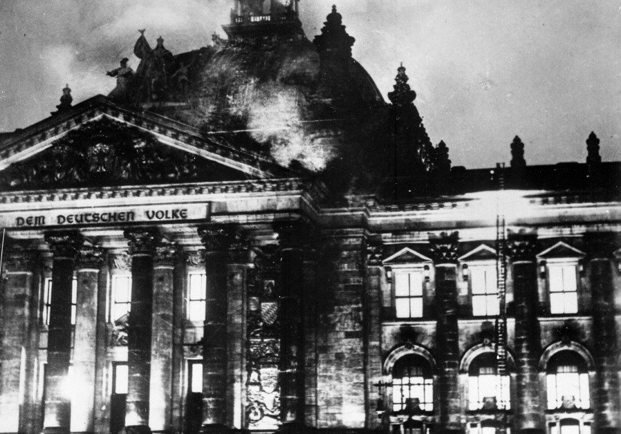 The Reichstag building burns, February 27 1933