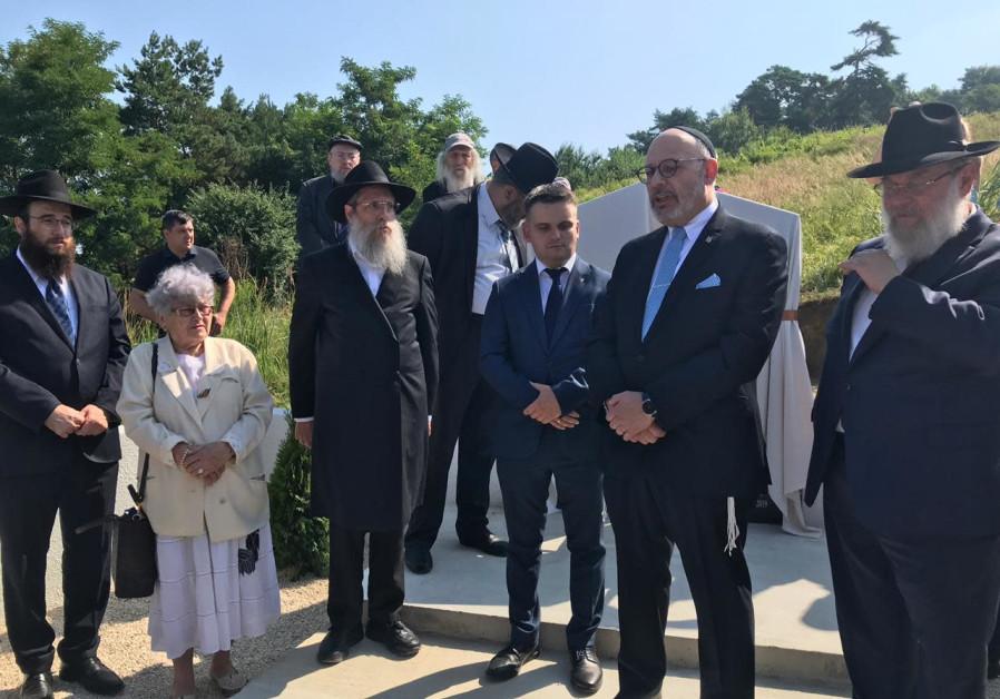 Memorial unveiled for Ukrainian Jews massacred in Holocaust