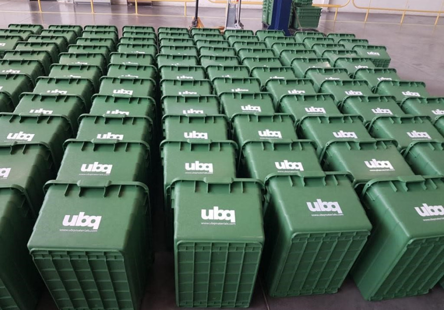 Recycling bins made from UBQ thermoplastic, ordered by the State of Virginia