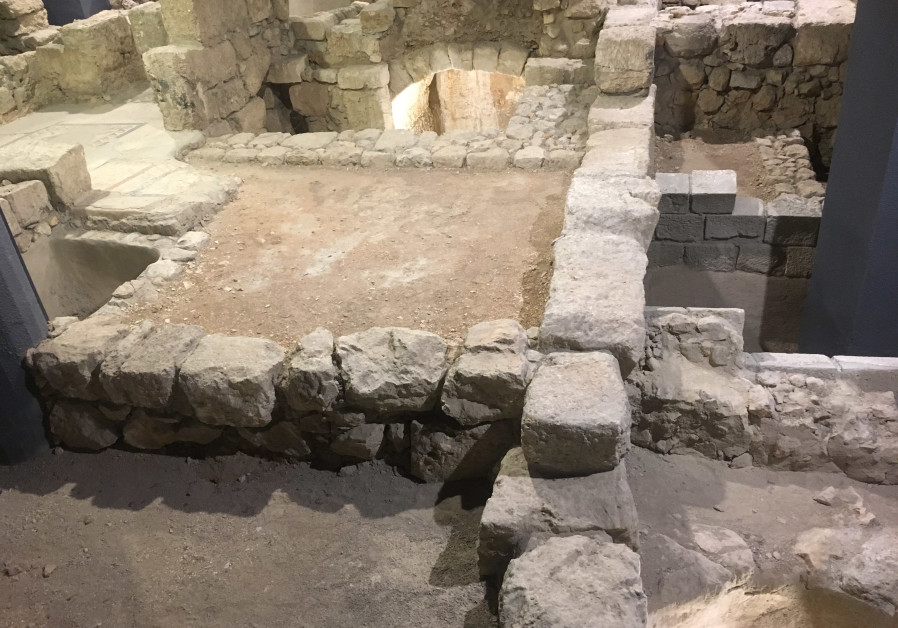 Houses from the Second Temple period, from the Herodian Quarter in the Old City (Photo Credit: Rebecca Araten)