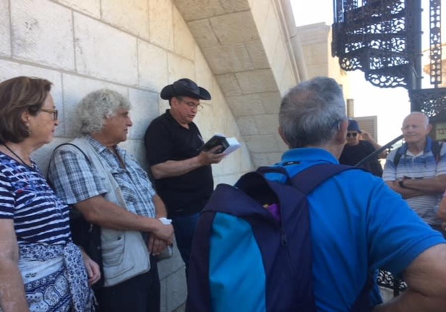 A tour of the Old City of Jerusalem with MK Uzi Dayan