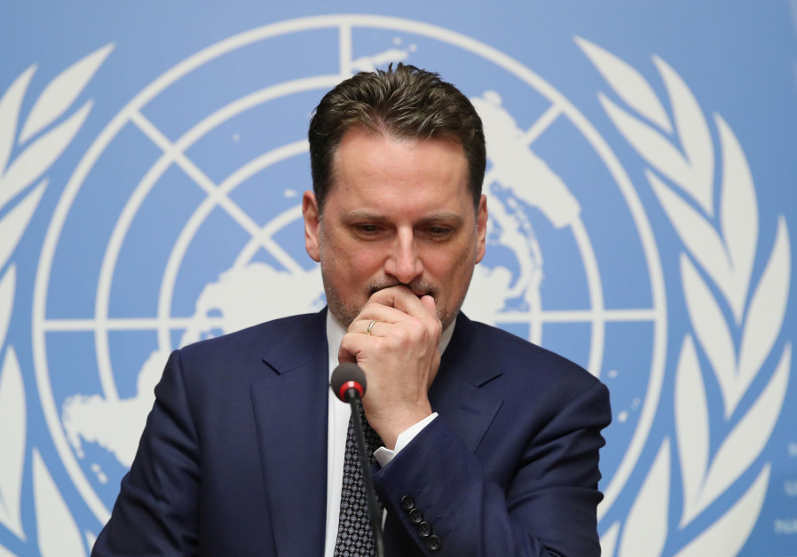 Pierre Krahenbuhl Commissioner-General of the UNRWA attends a news conference in Geneva
