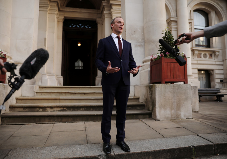 Dominic Raab is seen at the Foreign and Commonwealth building after being appointed as the Foreign S