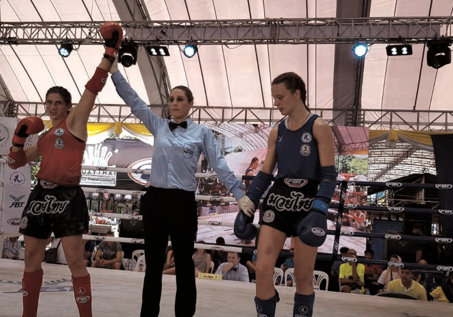 Fighter Nili Block with 4th gold medal, IFMA World Muaythai Championships, Bangkok.