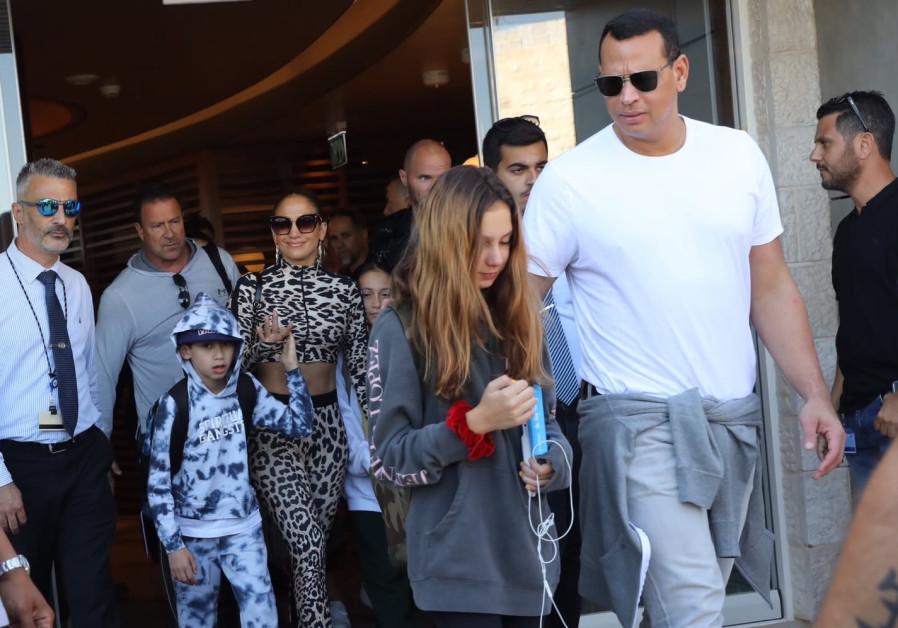 Jennifer Lopez in Israel on July 30, 2019.
