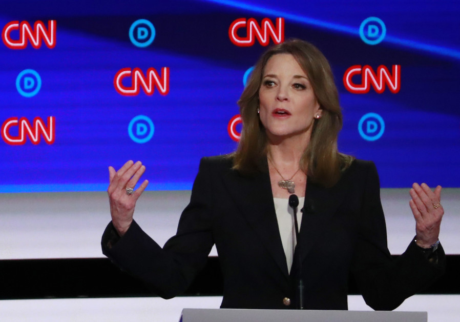 Author Marianne Williamson speaks on the first night of the second 2020 Democratic U.S. presidential