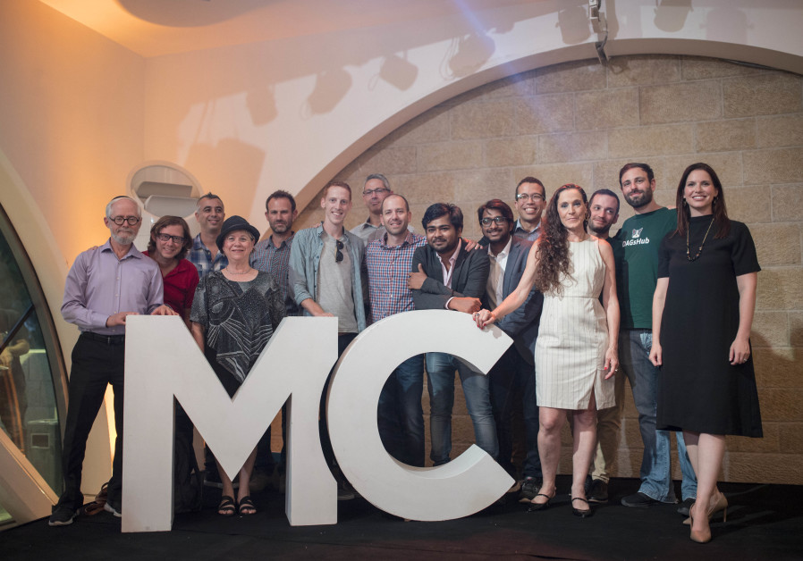 Yonit Serkin, Managing Director of MassChallenge Israel, (R) with the winners of the 2019 MassChalle