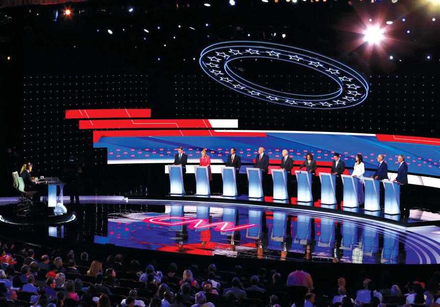 US DEMOCRATIC presidential candidates debate in Detroit