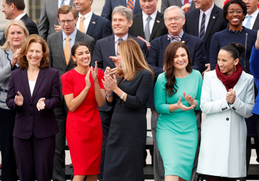 Newly elected members of the U.S. House of Representatives on Capitol Hill in Washington, U.S.