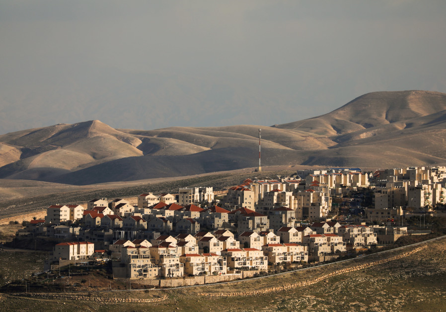 A general view picture shows houses in the Israeli settlement of Maale Adumim, in the West