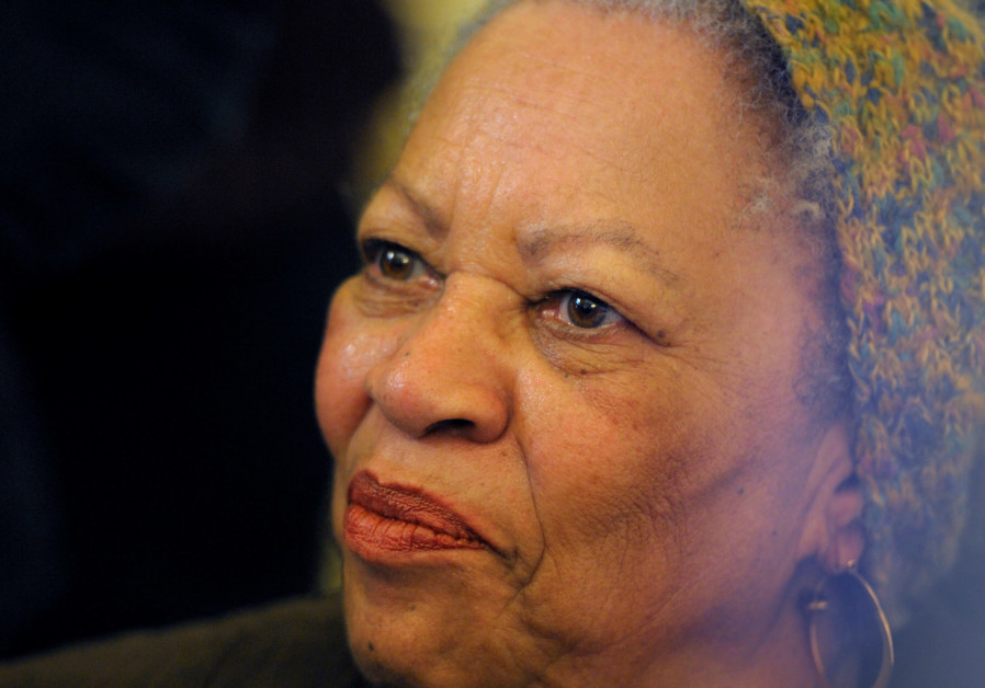 U.S. author Toni Morrison poses after being awarded the Officer de la Legion d'Honneur, the Legion o