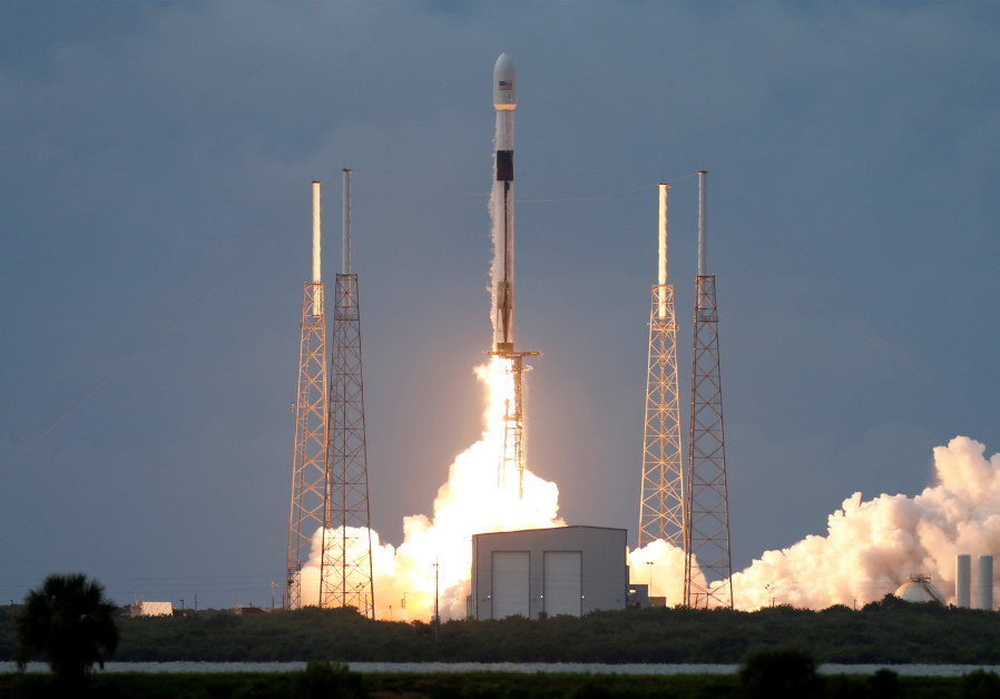 A SpaceX Falcon 9 rocket, carrying the Israeli-owned Amos-17 commercial communications satellite, li