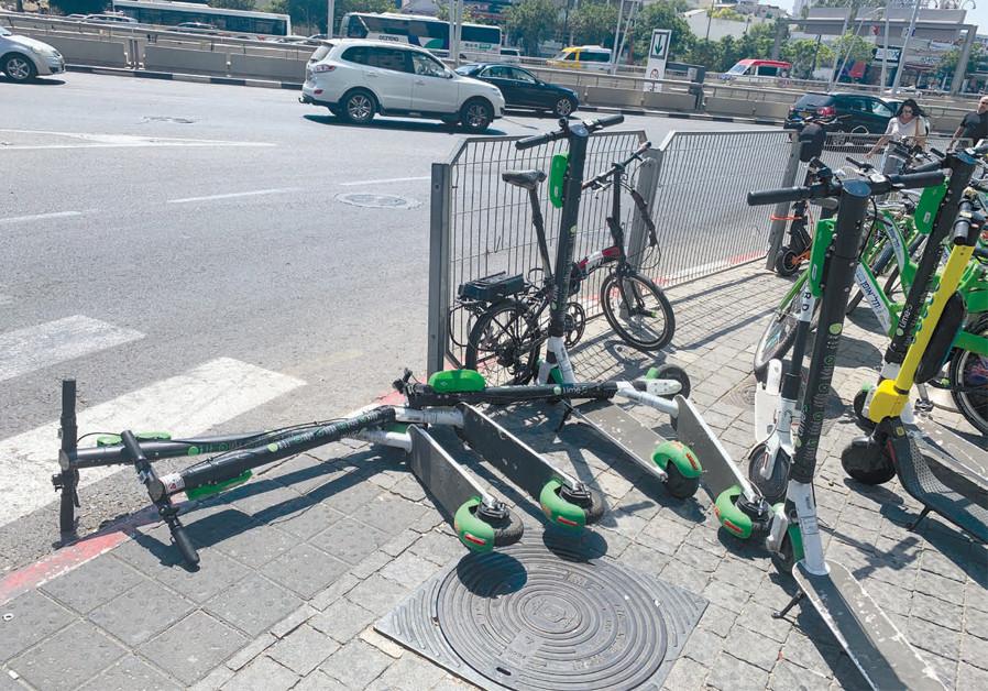 Tel Aviv's sidewalks war: Scooters, bikes, pedestrians battle it out