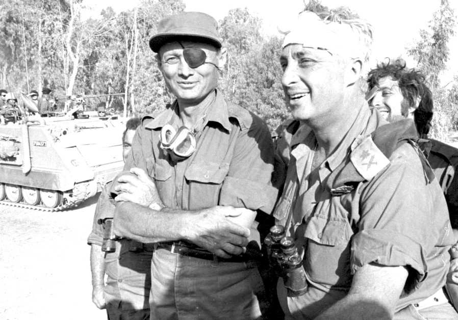 MOSHE DAYAN and Ariel Sharon in 1973. The trickle became a deluge after the Six Day War