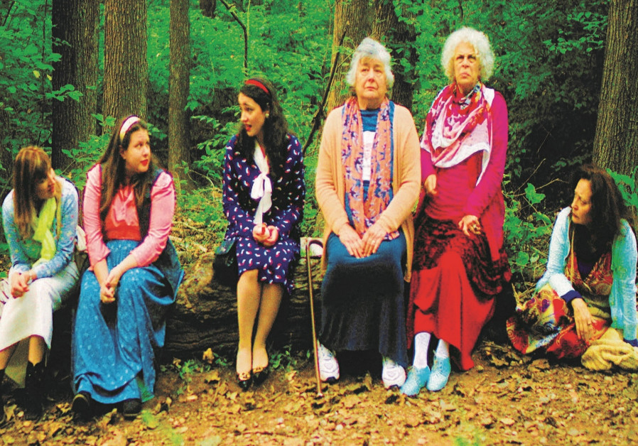 MAYA BATASH (far left) portrays a woman who joins a women's trip to Uman, Ukraine, to seek spiritua