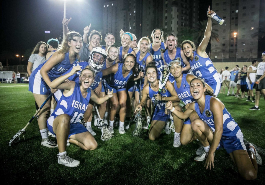 THE ISRAEL WOMEN'S NATIONAL LACROSSE TEAM celebrates after a victory during last month's European Ch