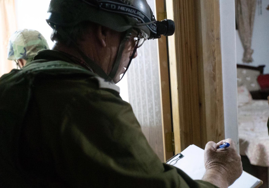 IDF fighters map out the homes of the suspected killers of Dvir Sorek.