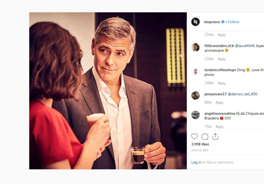 An Instagram screenshot of Nespresso's commercial