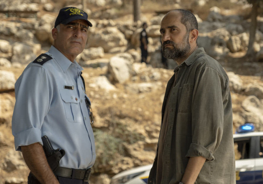 """Yoram Toledano on the left and Shlomi Elkabetz on the right in the new HBO series """"Our Boys"""""""