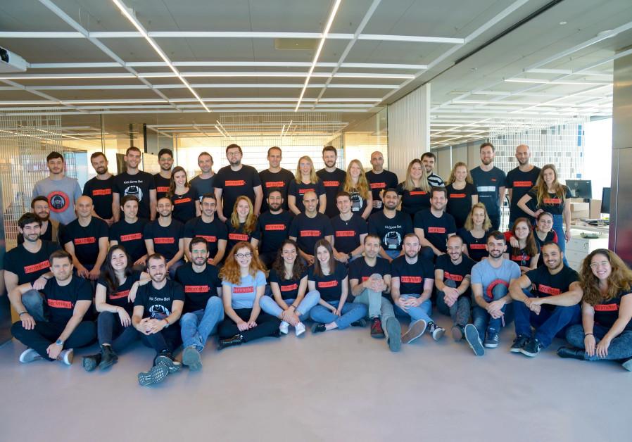 Employees at PerimeterX's Tel Aviv office  (Credit: LIAT MANDEL)