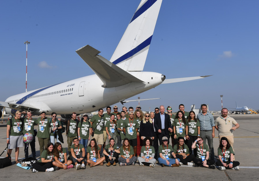 242 new immigrants stepped off a Nefesh B'Nefesh chartered El Al flight in Ben-Gurion Airport on Aug