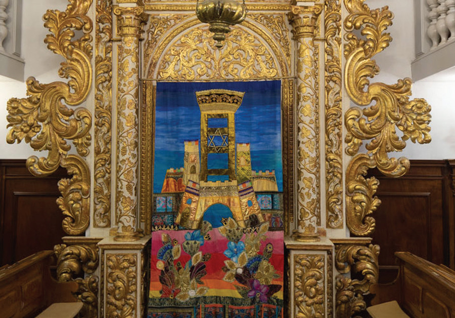 ARON HAKODESH (Holy Ark) from the Conegliano Veneto Italian synagogue, open to visitors of the U. Nahon Museum of Italian Jewish Art. (Credit: DUDI SA'AD)