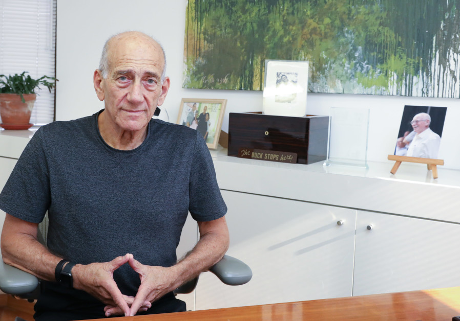 Former Prime Minister Ehud Olmert in an interview with the Jerusalem Post