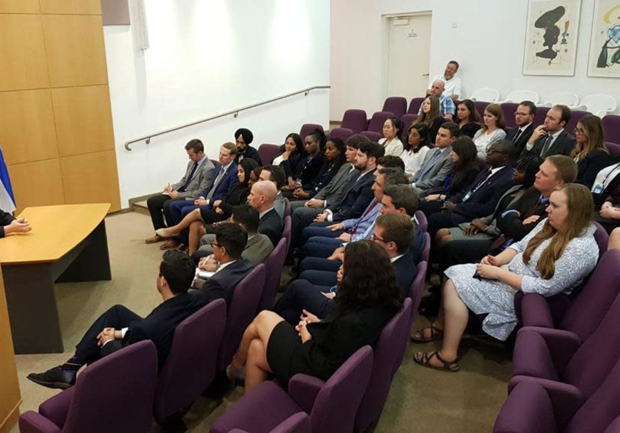 Foreign int'l law experts hear from Israeli officials about security challenges