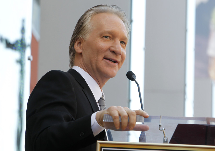 Comedian Bill Maher speaks during ceremonies unveiling his star on the Hollywood Walk of Fame