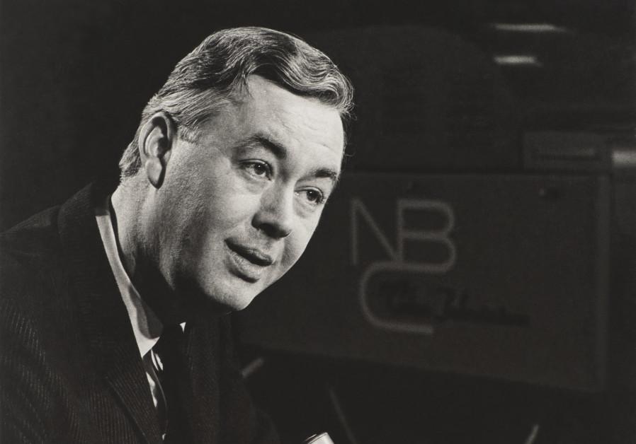 Daniel Patrick Moynihan at NBC studios in the 1960s