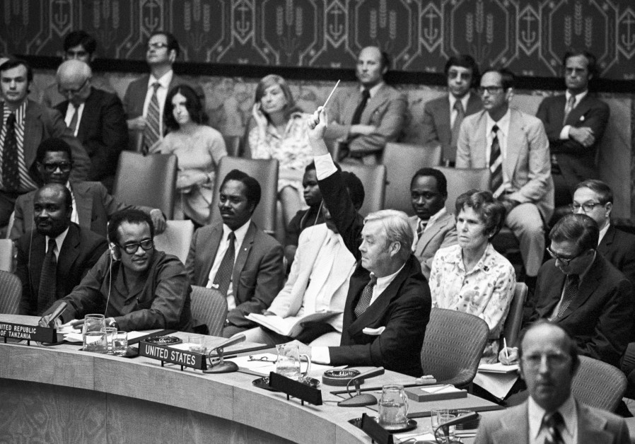 Ambassador Moynihan at the UN, 1975
