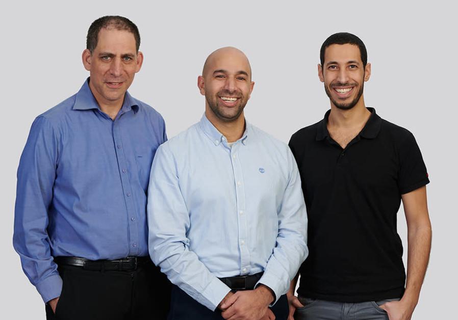 TriEye founders (L-R) Uriel Levy, Avi Bakal, and Omer Kapach (Credit: Porsche AG)