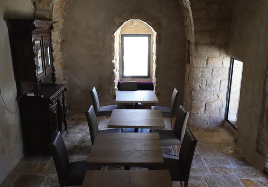 RESTAURANT/BAR Chateau du Roi is set to open at the end of the month in Mi'ilya. (Credit: GARY ROZNIKOVSKI)