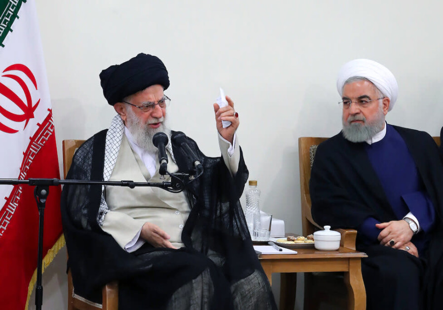 Iranian President Hassan Rouhani meets with Supreme Leader Ayatollah Ali Khamenei, Aug. 21, 2019