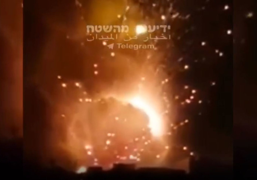 Israeli IDF attack south of Damascus, Syria Aug. 25, 2019