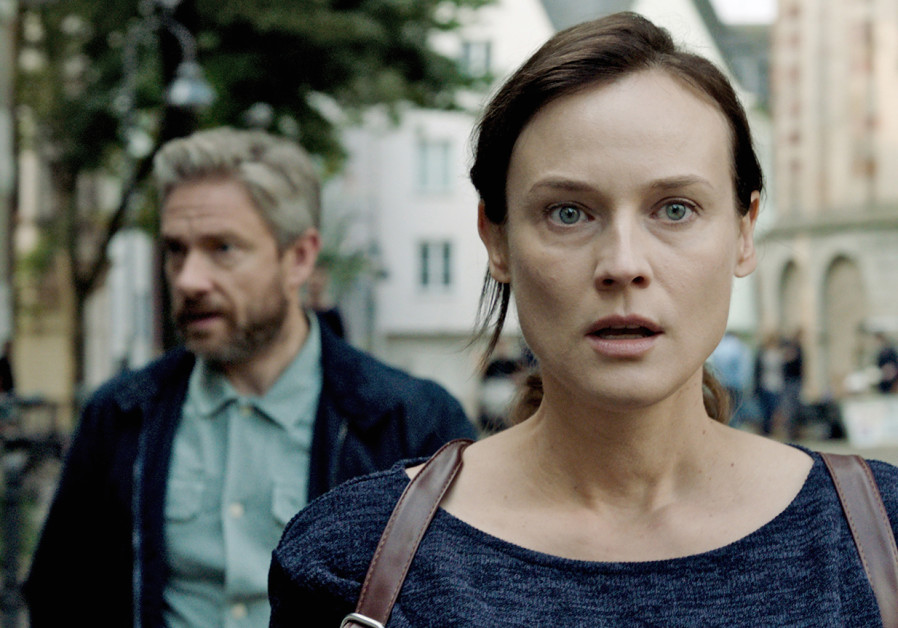 The Operative, Diane Kruger on the right, Martin Freeman on the left