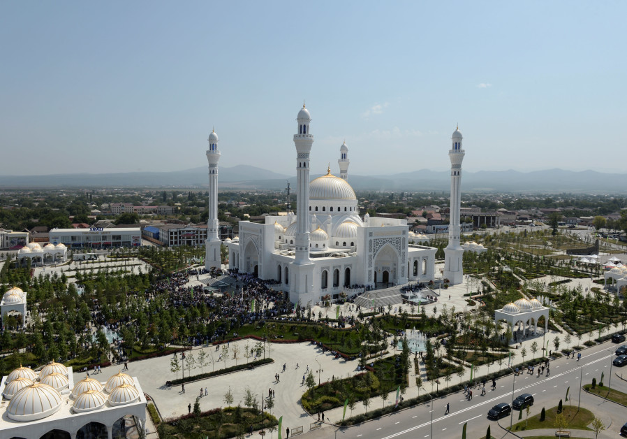 A general view shows a mosque named after the Prophet Mohammed, the largest in Europe according to l