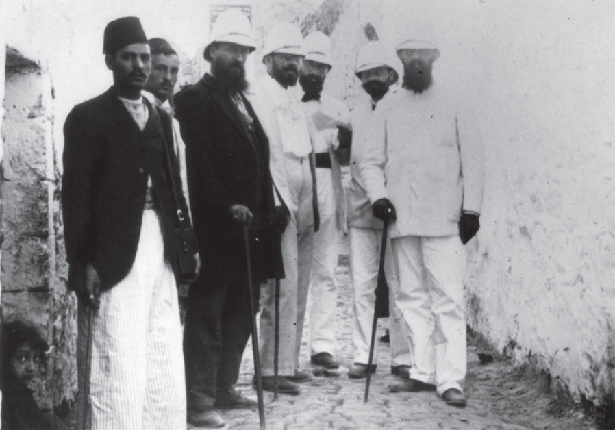 A ZIONIST delegation led by Herzl in Jerusalem's Old City, 1898. (Credit: Wikimedia Commons)