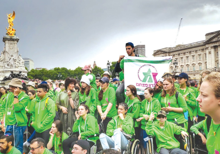ONE-HUNDRED AND THIRTY Israeli children fighting cancer enjoy the sights of London for a week-long v