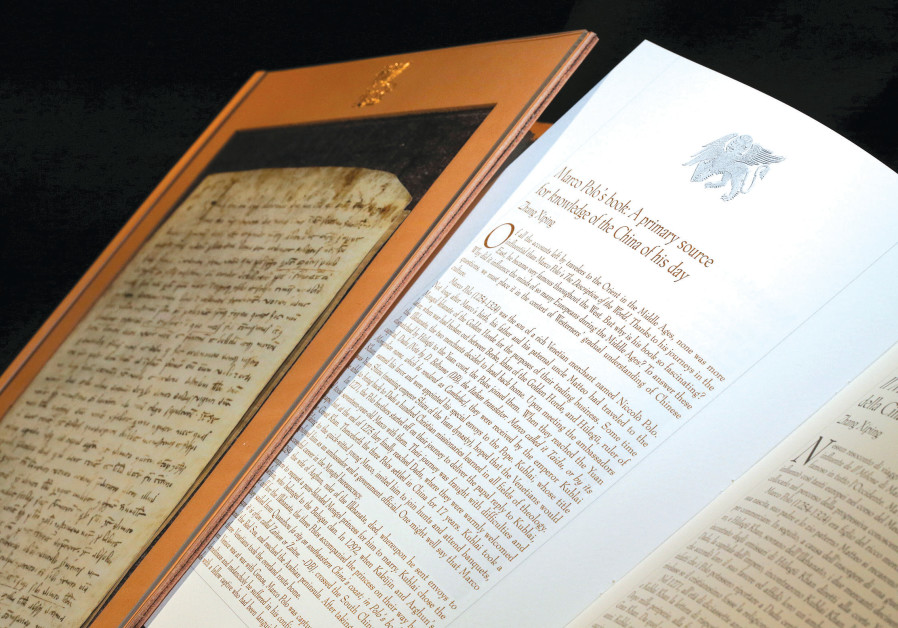 A REPLICA of Marco Polo's 700-year-old last will and testament.