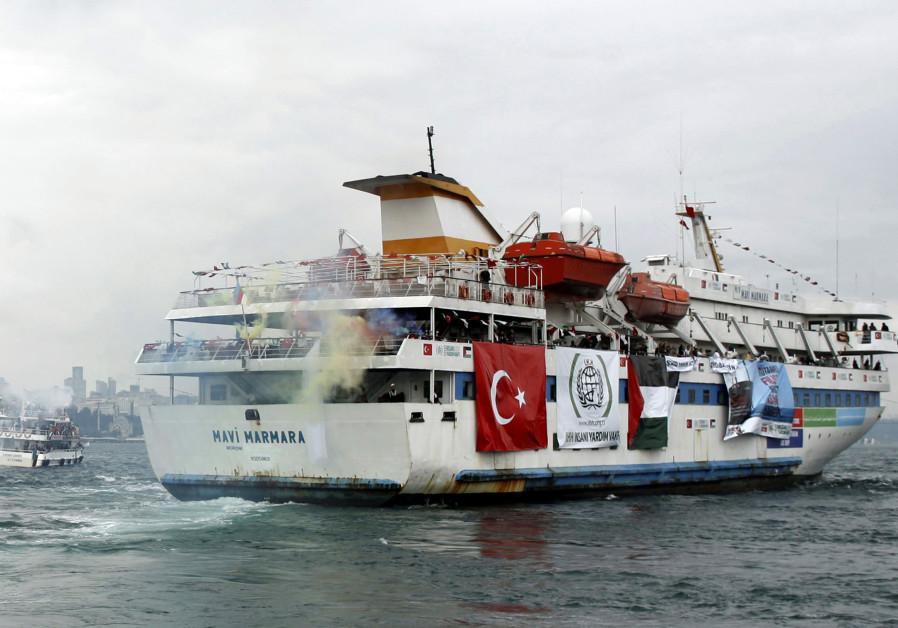 Turkish ship Mavi Marmara, carrying pro-Palestinian activists to take part of a humanitarian convoy,